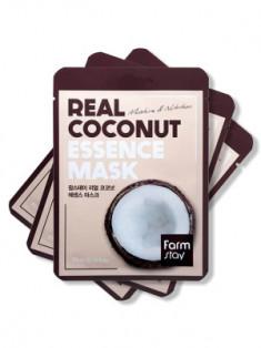 Набор тканевых масок с экстрактом кокоса FarmStay REAL COCONUT ESSENCE MASK 23мл*3