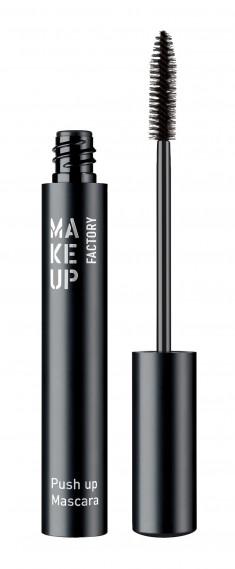 MAKE UP FACTORY Тушь с эффектом увеличения для ресниц, черный / Push Up Mascara, без упаковки 9 мл