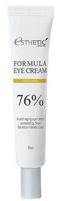 ESTHETIC HOUSE Крем с улиточной слизью и коллоидным золотом для глаз / Formula Eye Cream Gold Snail 30 мл
