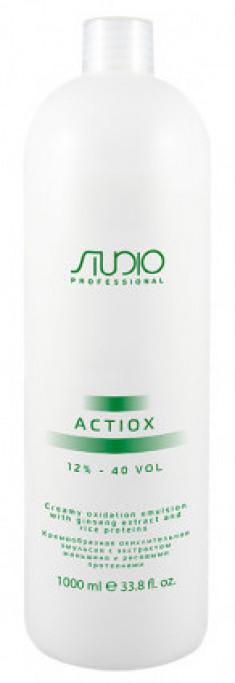 STUDIO PROFESSIONAL Эмульсия окислительная кремообразная с экстрактом женьшеня и рисовыми протеинами 12% / ActiOx 1000 мл