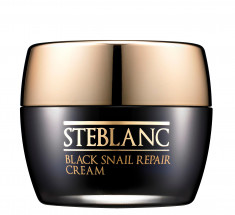 STEBLANC Крем восстанавливающий с муцином черной улитки для лица / Black Snail Repair Cream 55 мл