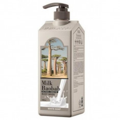гель для душа с ароматом белого мыла milkbaobab body wash white soap