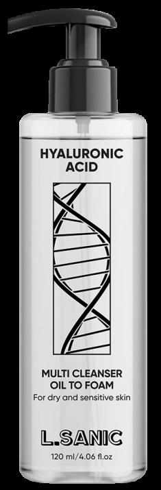 L.SANIC Масло-пенка гидрофильное с гиалуроновой кислотой 120 мл