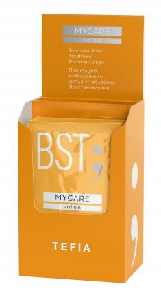 TEFIA Процедура интенсивного ухода за волосами Восстановление (концентрат 5 x 10 мл + бустер 5 x 20 мл) Mycare SALON