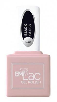 E.MI 030 гель-лак для ногтей, Черный глянец / E.MiLac 6 мл