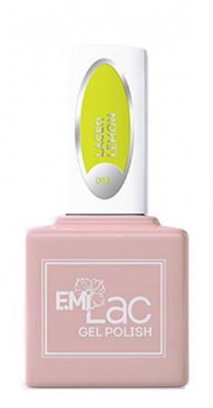 E.MI 051 NEON гель-лак для ногтей, Лазерный лимон / E.MiLac 6 мл