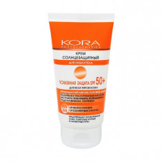 КОРА Крем солнцезащитный для лица и тела усиленная защита SPF 50+ 150мл