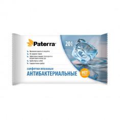 Paterra Влажные салфетки Антибактериальные 20шт