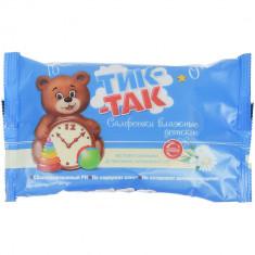 Тик-Так Детские влажные салфетки с экстрактом ромашки, Д-пантенолом и витаминами F и Е N15 ТИК-ТАК
