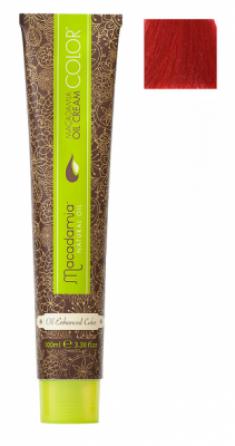 Краска для волос Macadamia Oil Cream Color 7.666 ЭКСТРА-ЯРКИЙ ТЕМНО КРАСНЫЙ БЛОНДИН 100мл