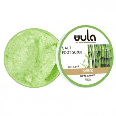 WULA NAILSOUL Скраб солевой для ног, Зеленый бамбук / Wula nailsoul 200 мл