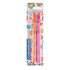 Curaprox щетки зубные ультрамягкие набор CS5460/2 Duo Hawaii1 N2 оранжевая/розовая