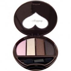 Тени для век 4-х цветные Koji Dolly wink eye shadow тон №02 розовый и коричневый