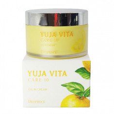 омолаживающий цитрусовый крем deoproce yuja vita care 10 oil in cream